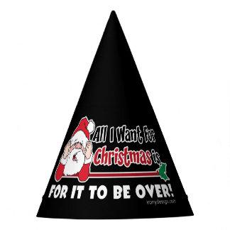 Chapéu De Festa Tudo que eu quero para o design engraçado do Natal