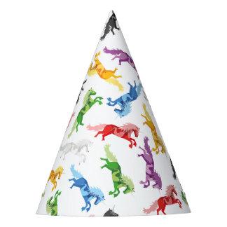 Chapéu De Festa Unicórnio colorido do teste padrão