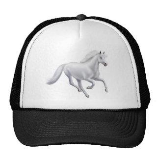 Chapéu de galope da malha do cavalo branco bonés