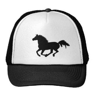 Chapéu de galope da silhueta do cavalo, ideia do p boné