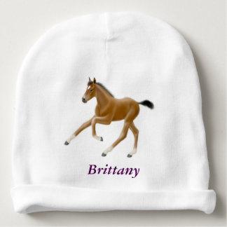 Chapéu de galope do bebê do potro do cavalo do gorro para bebê