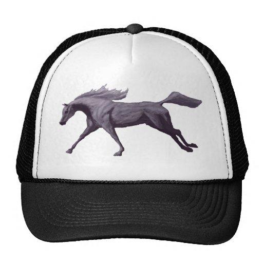 Chapéu de galope do cavalo árabe bones