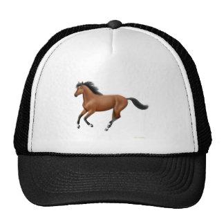 Chapéu de galope do cavalo de baía boné