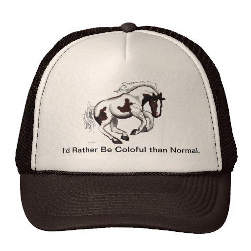 Chapéu de galope do cavalo do PInto Bones