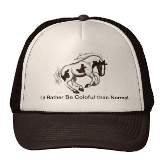 Chapéu de galope do cavalo do PInto Boné