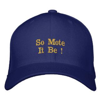 Chapéu de lãs boné bordado