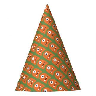 Chapéu de papel dos monstro alaranjados bonitos