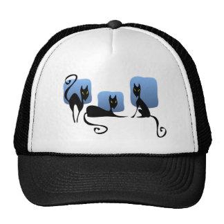 Chapéu de três gatos pretos boné