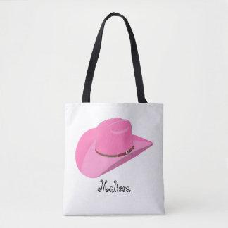 Chapéu de vaqueiro cor-de-rosa bolsas tote
