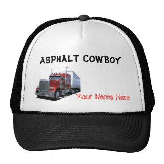 Chapéu de vaqueiro do asfalto boné