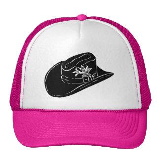 Chapéu de vaqueiro em um chapéu cor-de-rosa boné