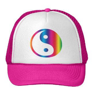 Chapéu de Yin Yang do arco-íris Bonés