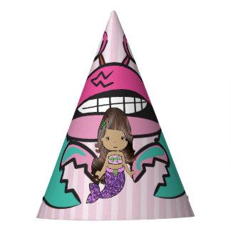 Chapéu do aniversário da sereia de Purplee do