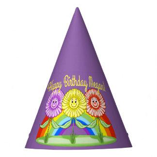 Chapéu do aniversário das flores (customizável)