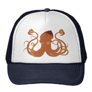 Chapéu do calamar gigante do vetor boné