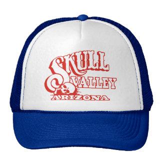 Chapéu do camionista com vale do crânio, logotipo boné