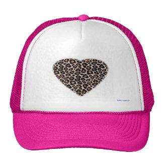 chapéu do camionista - coração do leopardo boné