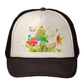 Chapéu do camionista da aguarela boné