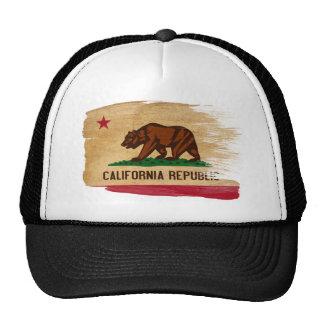 Chapéu do camionista da bandeira de Califórnia Boné