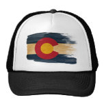Chapéu do camionista da bandeira de Colorado Bones