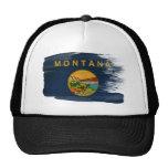 Chapéu do camionista da bandeira de Montana Bonés