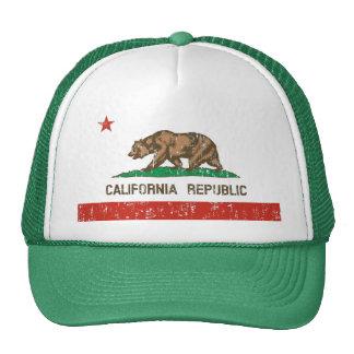 Chapéu do camionista da bandeira do estado da repú boné