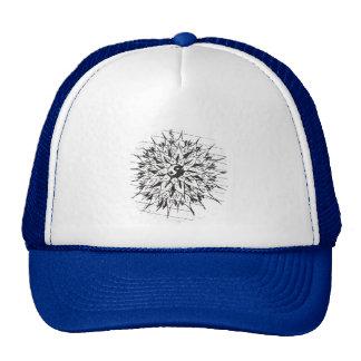 Chapéu do camionista da flor de Yin-Yang Boné