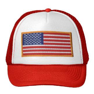 Chapéu do camionista da malha da imagem do remendo boné