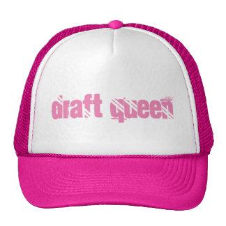 Chapéu do camionista da rainha do esboço boné