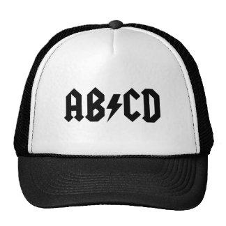 Chapéu do camionista de ABCD Bonés