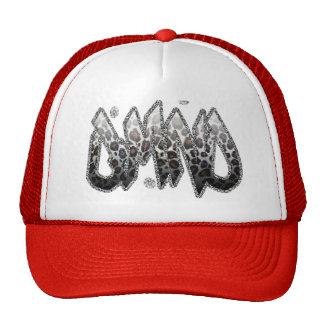 Chapéu do camionista de DMND com impressão do leop Boné