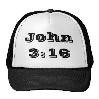 Chapéu do camionista do 3:16 de John Bone