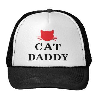 Chapéu do camionista do boné do pai do gato