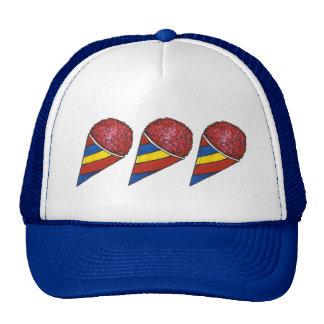 Chapéu do camionista do cone de Sno da cereja Boné