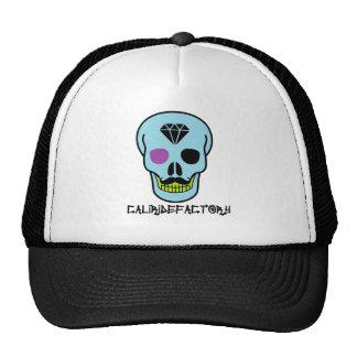 Chapéu do camionista do crânio da fábrica do boné