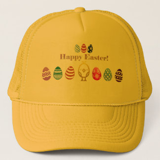 Chapéu do camionista do design da páscoa boné