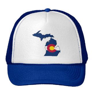 Chapéu do camionista do esboço de Michigan da Boné