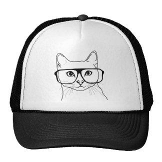 Chapéu do camionista do gato de Hiptser Boné