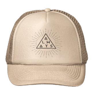 """Chapéu do camionista do hipster """"SEMPRE """" Boné"""