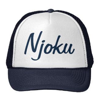 Chapéu do camionista do logotipo azuis marinhos de boné