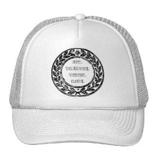 Chapéu do camionista do logotipo do bloco de boné