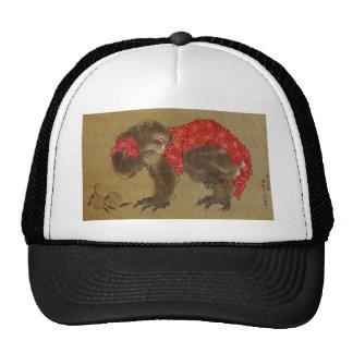 """Chapéu do camionista do """"macaco"""" de Hokusai Boné"""