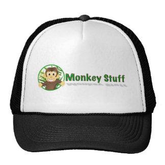 Chapéu do camionista do material do macaco bonés