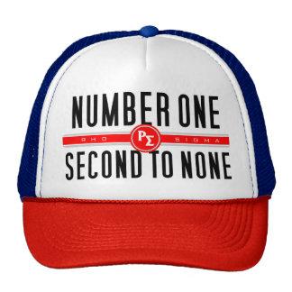 Chapéu do camionista do número um boné