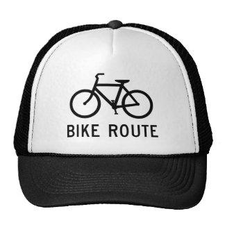 Chapéu do camionista do sinal da rota da bicicleta bone