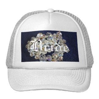 Chapéu do camionista dos diamantes da noiva bone