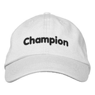 Chapéu do campeão boné bordado