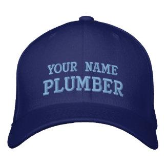 Chapéu do canalizador do nome pessoal das camiseta boné bordado