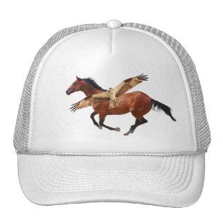 Chapéu do cavalo & do Osprey ou do falcão Boné