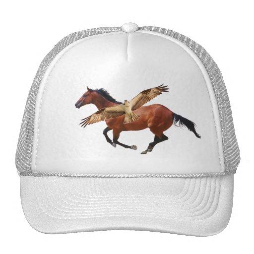 Chapéu do cavalo do Osprey ou do falcão Boné